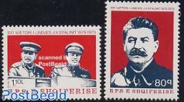 Stalin birth centenary 2v
