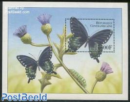 Black/green butterfly s/s