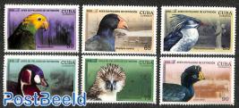 Endangered birds 6v