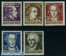 W. von Goethe 5v