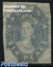 Queen Victoria, Six Pence 1v