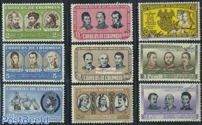 Ibero american postal congress 9v