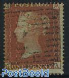 1p, REbrown, Perf. 16, Queen Victoria