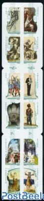 La musique du timbres 12v s-a in foil booklet