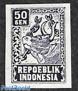 Java 50s, imperforated, Stamp out of set
