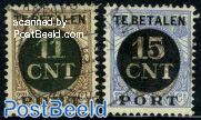 TE BETALEN PORT Overprints 2v