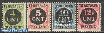 Postage due, overprints 4v