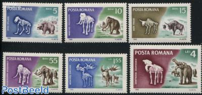 Prehistoric animals 6v