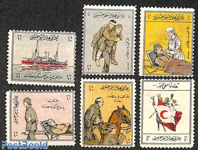 Welfare stamps, war victims 6v