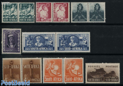 Definitives 14v (8 pairs + 2v)